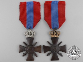 Two Greek War Cross 1940; 1st and 2nd Classes