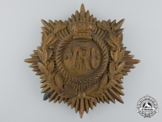A Victorian Royal Regiment of Canadian Infantry Helmet Plate
