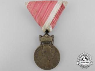 A Second War Croatian King Zvonimir Medal in Bronze