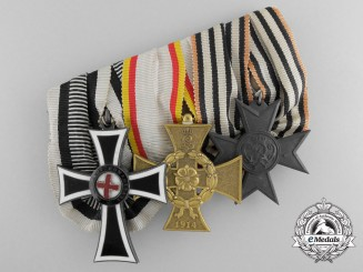 An Unusual Imperial Austrian Medal Bar; Marian Cross of the German Knight Order 1st Class