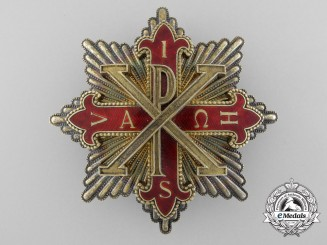 A Kingdom of the Two Sicilies Constantinian Order of St. George; Dame Grand Cross Breast Star