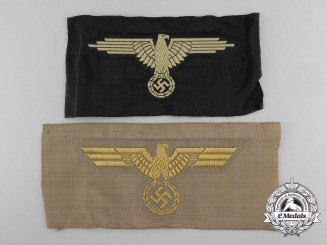 Two Mint Second War Cloth German Insignia
