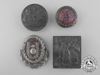 Four Croatian Badges & Insignia