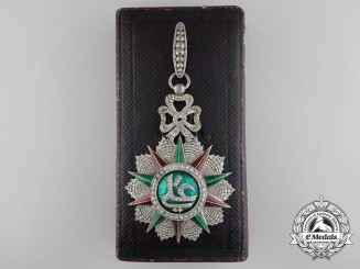 A Fine Tunisian Order of Nichan Iftikhar; Commander's Neck Badge by Halley, Paris