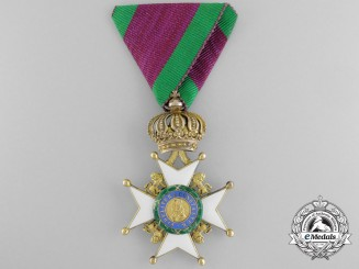 A Saxe-Ernestine House Order in Gold; Knight's Cross 1st Class