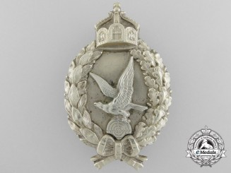 A First War Prussian Air Gunner's Badge by Juncker; First Type