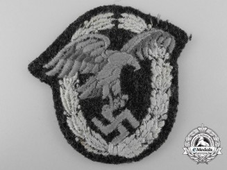 A Luftwaffe Observer's Badge; Cloth Padded Version