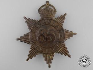 A 85th Regiment (later Le Régiment de Maisonneuve) Canadian Militia Helmet Plate c. 1908
