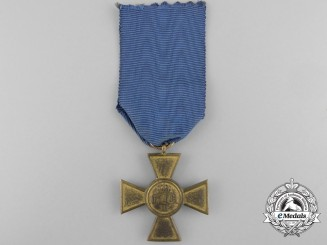 A Prussian Long Service Cross; 25 Years' Service; Type I