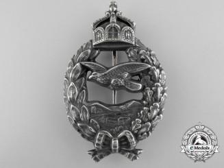 A First War Prussian Pilot's Commemorative Badge by Juncker