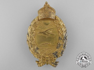 A German Imperial Naval Land Pilot's Badge by Godet, Berlin