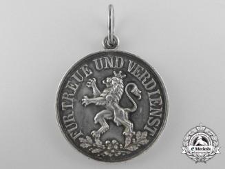 A Schwartzburg-Rudolstadt Duchy Honour Medal; Silver Grade