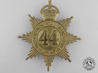 A 44th Lincoln & Welland Regiment Canadian Militia Helmet Plate c. 1908