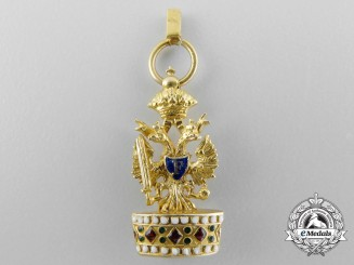 Austria. A Superb Miniature Order of the Iron Crown in Gold