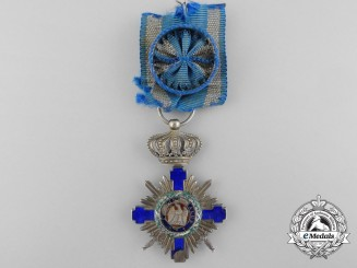 An Order of the Star of Romania; Officer with Crossed Swords