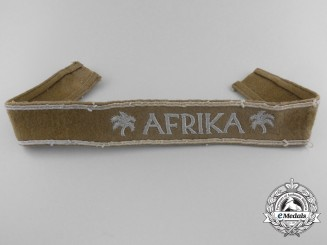 An Afrika Campaign Cufftitle; Uniform Removed