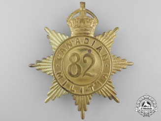 A 82nd Regiment (Abgeweit Light Infantry) Canadian Militia Helmet Plate c. 1908