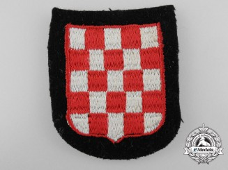 A Waffen-SS Croatian Volunteer's Sleeve Shield