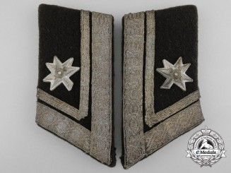 A Croatian Home Army Doctor/Medical Staff Lieutenant's Collar Tab Pair