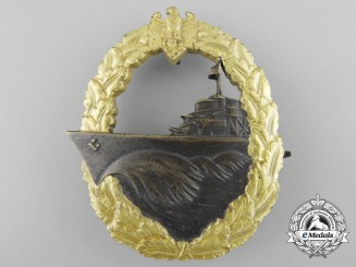 A Mint & Early War Destroyer War Badge by Schwerin, Berlin