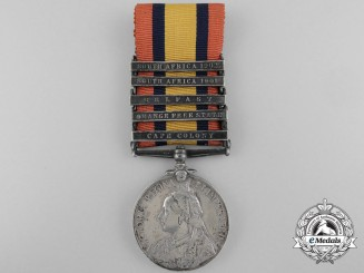 A Queen's South Africa Medal to Trumpeter J. Locke; 11th (Prince Albert's Own) Hussars