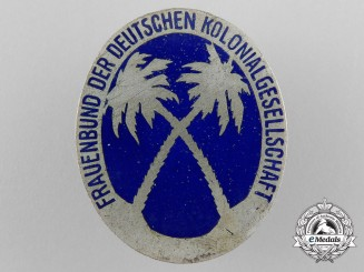 A German Colonial Organization Members Badge; Lady's Section