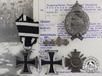 A First War German Imperial Flyers Group to Schrader Friedrich