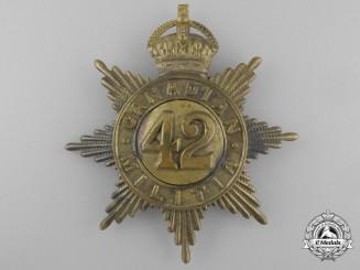A 42nd Lanark & Renfrew Regiment Canadian Militia Helmet Plate c. 1908