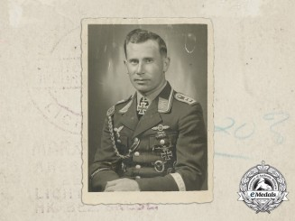 An Oberfeldwebel Knight's Cross of the Iron Cross Recipient Photograph