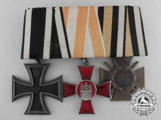 An WWI Iron Cross Medal Pair; Marked Godet & Söhn