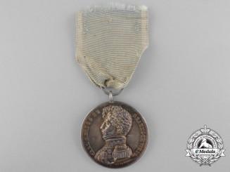 A Rare Napoleonic 1815 Brunswick Military Merit Medal' Silver Grade