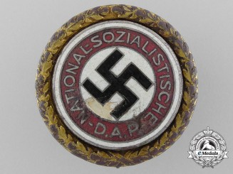 An NSDAP Golden Party Badge; Large Version