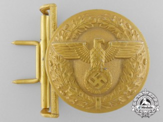 A Political Leader's Belt Buckle by Christian Theodor Dicke