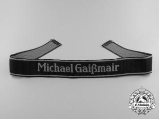 A Very Rare Waffen-SS Michael Gaissmair EM/NCO BeVo Cufftitle