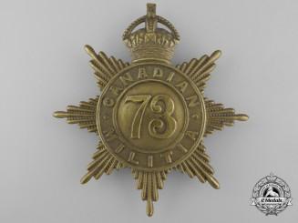 A 73rd Northumberland Regiment Canadian Militia Helmet Plate c. 1908