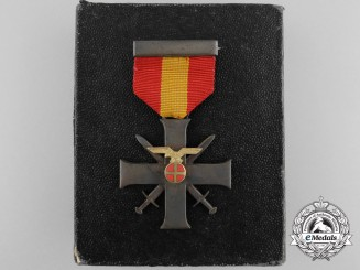 Norway, Occupied Territory. A Merit Cross with Swords, II Class Cross with Case