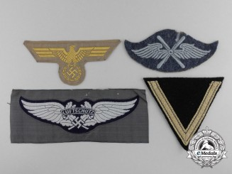 Four Cloth German Insignia