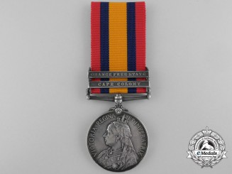 A Queen's South Africa Medal to Private W. Ferris; Wounded at Magersfontein