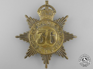A 36th Peel Regiment Canadian Militia Helmet Plate c. 1908