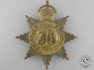A 36th Peel Regiment Canadian Militia Helmet Plate c. 1908