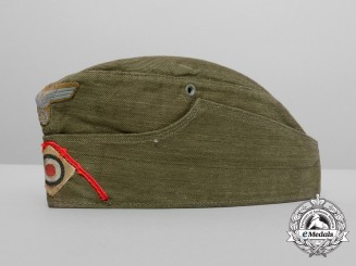 An Afrika Korps Panzer Anti-Tank Battalion NCO's/Enlisted Man's Side Cap