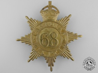 A 68th King's County Regiment Canadian Militia Helmet Plate c. 1908