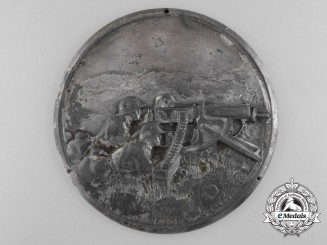 A German Army (Heer) Machine Gunners Plaque