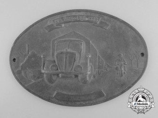 A Second War German Kraftwagen Transport Regiment 616 Plaque