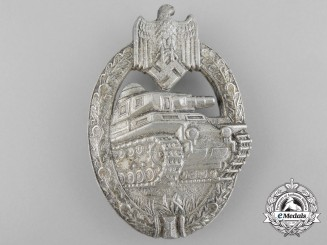 Germany, Heer. A Tank Badge, Silver Grade, by Adolf Scholze