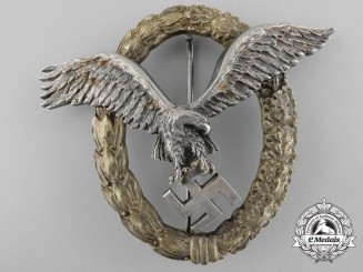 A Combined Luftwaffe Pilot's & Observers Badge by C.E. Juncker