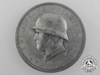 Germany, Heer. A Medal of the 4th Panzer Division - 3.Pz. Aufklärungs Btl. 7, 14. 7. 1941