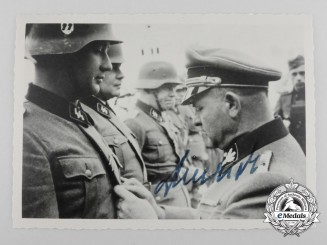 "A Second War Period Signed Photo of Josef ""Sepp"" Dietrich"