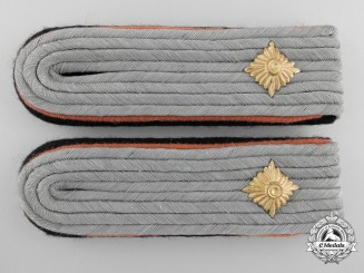 A Set of Reconnaissance Waffen-SS Obersturmführer's Shoulder Boards