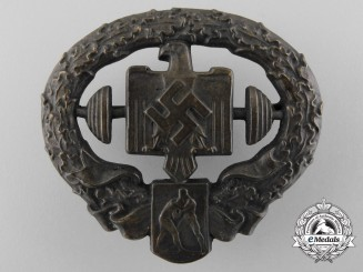 A German Heavy Athletics Sports Badge; Second Model